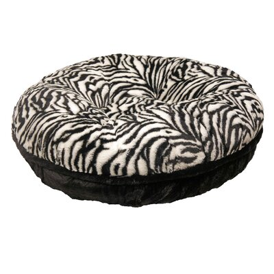 Bagel Zebra Mink Dog Bed by Baylee Nasco