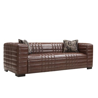 Maxton Leather Sofa by A'melas Collection