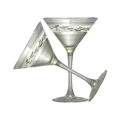 Vine Martini Glass by Golden Hill Studio