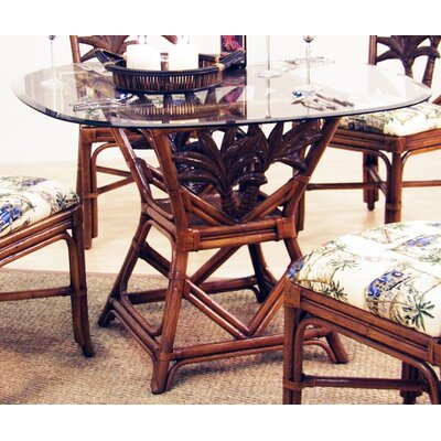 Cancun Palm Indoor Rattan Square Dining Table by Hospitality Rattan