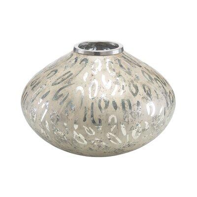 Leopard Etched Table Vase by John Richard