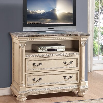Russian Hill 2 Drawer Media Chest by Homelegance