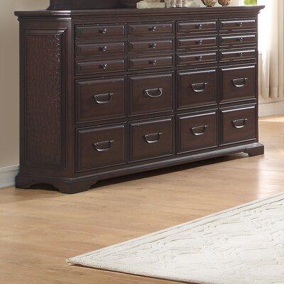 Cranfills 20 Drawer Dresser with Mirror by Homelegance