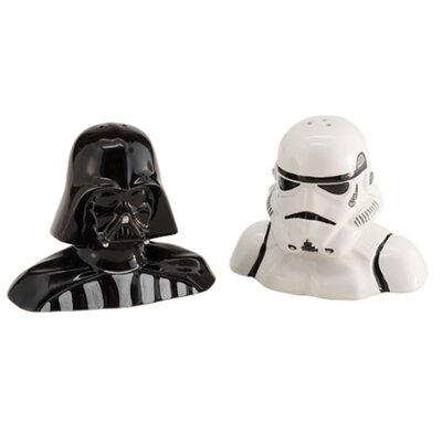 Star Wars Darth Vader and Storm Trooper Salt and Pepper Shakers by Vandor