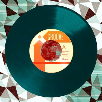 Viva Vinyl - Cosmic Groove by Wheatpaste House Painting Print on Wrapped Canvas by Wheatpaste ...