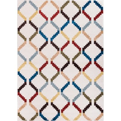 Sydney Moroccan Trellis White Modern Area Rug by Well Woven