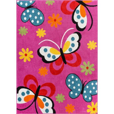 Starbright Daisy Pink Area Rug by Well Woven