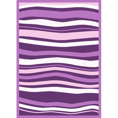 Well Woven Harmony Purple Stripes Area Rug