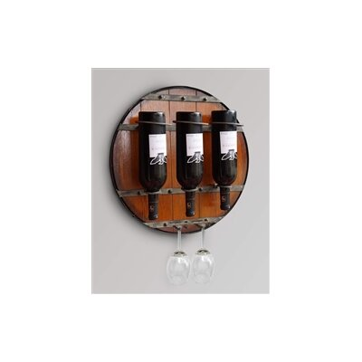 3 Bottle Wall Mounted Wine Rack by Welland Industries LLC