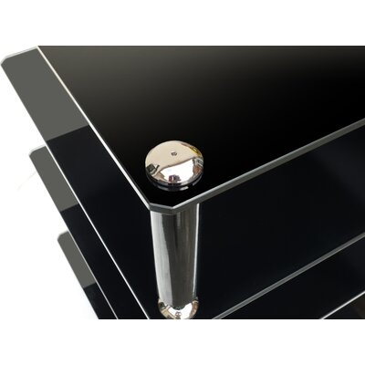 All Home Crest 2 4-Shelf Hifi Stand in Glossy Black