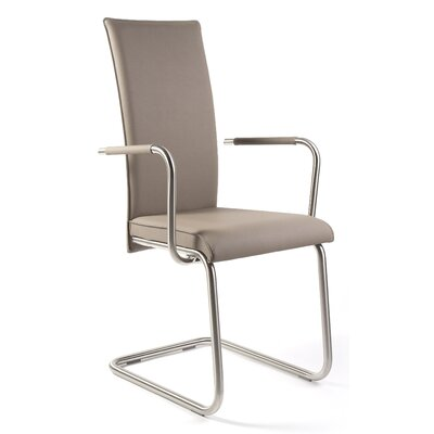 Home Etc Inishcoo Leather Upholstered Cantilever Chair