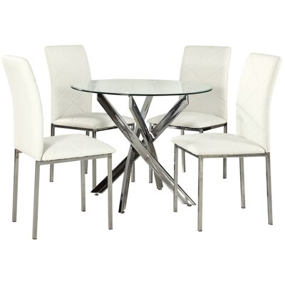 Mallory Dining Table And 4 Chairs Wayfair Uk