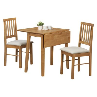 Home Haus Wells Extendable Dining Table And 2 Chairs Reviews Wayfair Uk