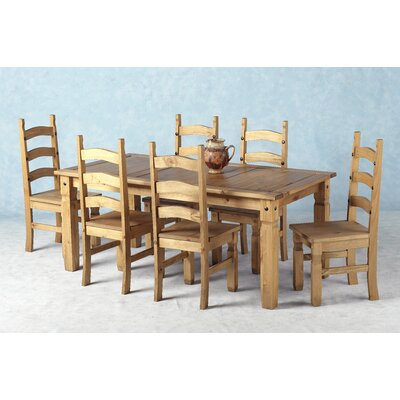 Home Haus Corona Dining Table And 6 Chairs Reviews Wayfair Uk