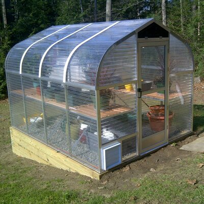 8 Ft. W x 8 Ft. D Acrylic and Aluminum Greenhouse by Sunglo Greenhouses