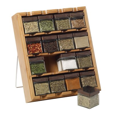 Kamenstein Bamboo Inspirations 16 Cube Spice Rack