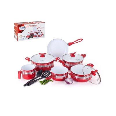 11 Piece Alumnium Ceramic Coated Cookware Set by Alpine Cuisine