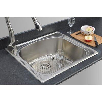 chicago series 25 quot x 22 quot d shaped topmount kitchen sink