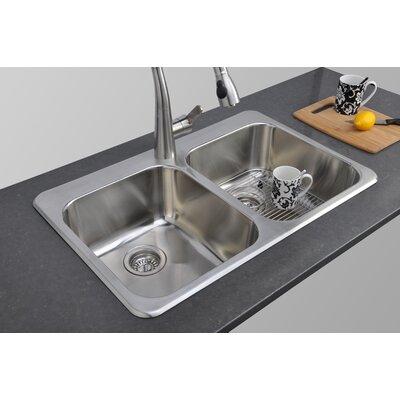 "Toronto Series 31.5"" x 20.63"" Double Topmount Kitchen Sink Product Photo"