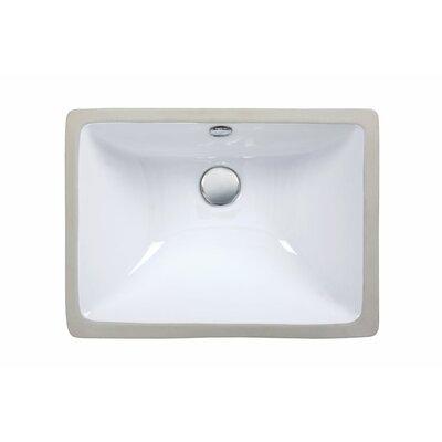 Undermount Rectangular Vitreous China Bathroom Sink Product Photo