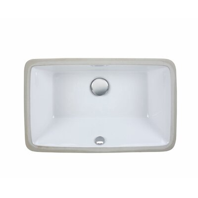 Undermount Rectangular Vitreous China Bathroom Sink Product Photo