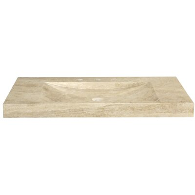 "Ryvyr Marble 48"" Vanity Top with Integrated Bowl"