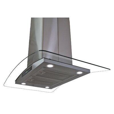 "30"" 870 CFM Convertible Island Range Hood in Stainless Steel Product Photo"