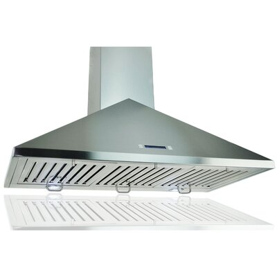 "29.5"" Convertible Wall Mount Range Hood in Stainless Steel Product Photo"