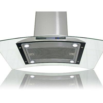 "36"" Convertible Island Range Hood in Stainless Steel Product Photo"