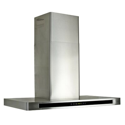 """35.54"""" Convertible Wall Mount Range Hood in Stainless Steel Product Photo"""
