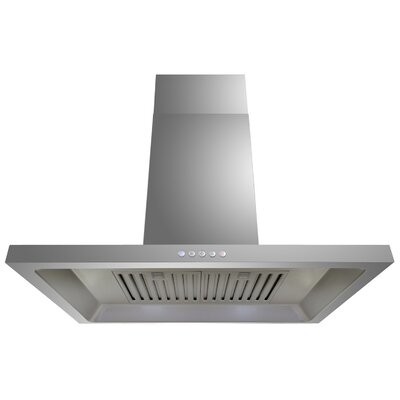 29.53' Convertible Wall Mount Range Hood in Stainless Steel Product Photo