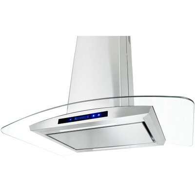 "29.4"" Convertible Island Range Hood in Stainless Steel Product Photo"