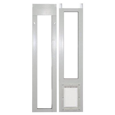 "Perfect Pet by Ideal 11-1/2"" X 77-5/8-80-3/8"" Medium White Modular Pet Patio Door"