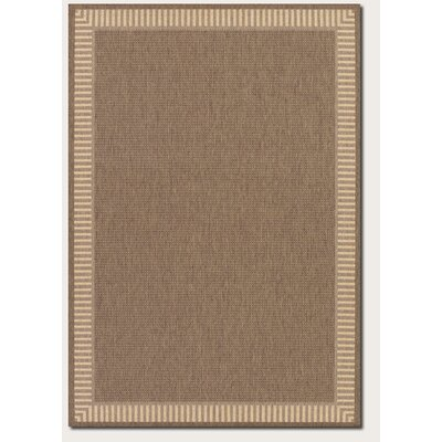 Recife Wicker Stitch Cocoa/Natural Area Rug by Couristan