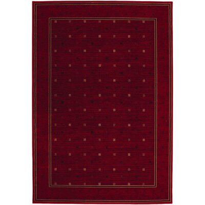 Everest Gridiron Crimson Area Rug by Couristan
