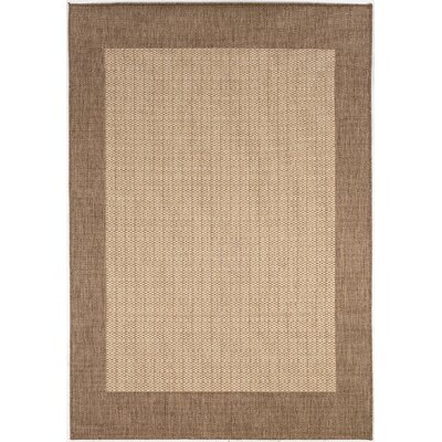 Recife Checkered Field Natural Cocoa Indoor/Outdoor Area Rug by Couristan