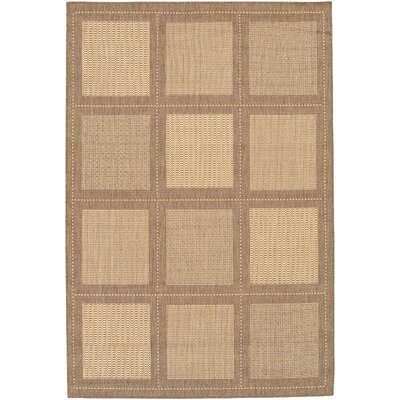 Recife Summit/Natural Cocoa Square Indoor/Outdoor Area Rug by Couristan