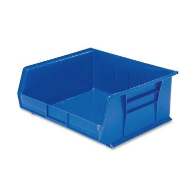 """Akro-Mils Bins, Unbreakable/Waterproof, 16""""x14-1/2""""x7"""", Blue"""