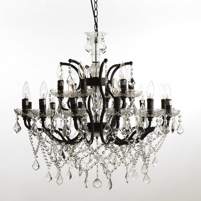 The Lillian 18 Light Crystal Chandelier by Stilnovo