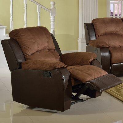 Pamela Microsuede Recliner by Beverly Fine Furniture