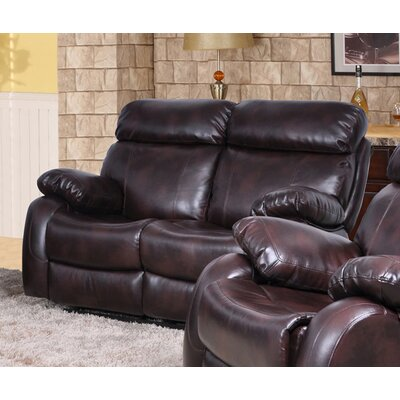 Beverly Fine Furniture QRMG1003 Omaha Reclining Loveseat