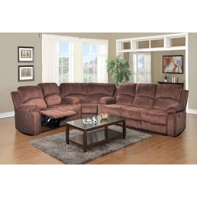 Denver Micro-Velvet Reclining Sectional by Beverly Fine Furniture