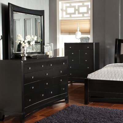 Memphis 7 Drawer Dresser with Mirror by Standard Furniture