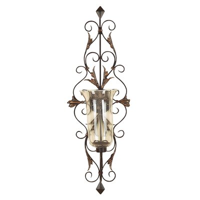 Cole & Grey Toscana Dancing Light Metal Glass Sconce
