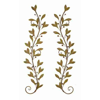 Cole & Grey 2 Piece Urban Trends Leaves and Beads Wall Décor Set