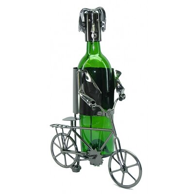Bicyclist 1 Bottle Tabletop Wine Rack by Three Star