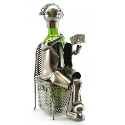 Card Player 1 Bottle Tabletop Wine Rack by Three Star