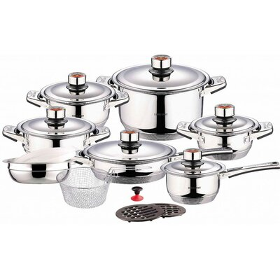 Swiss Inox 18 Piece Stainless Steel Cookware Set by Concord