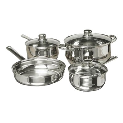 7 Piece Polished Stainless Steel Cookware Set by Concord