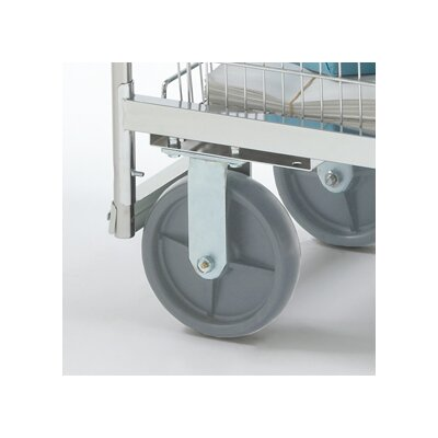 Premium Grey Heavy Duty Stationary Plate Caster by Charnstrom
